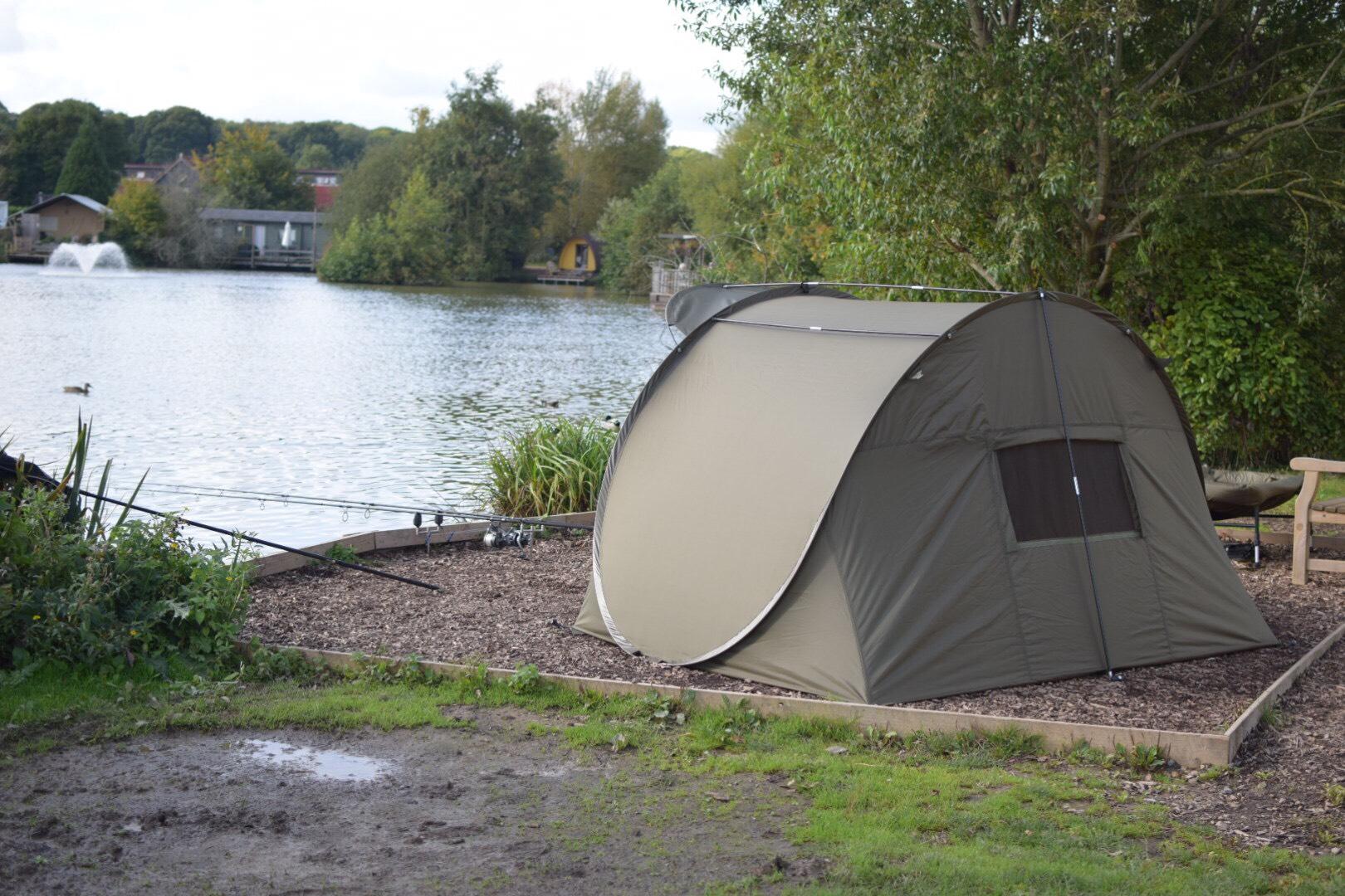 Fishing Pop Up Shelter : Quest quick shelter mk pop up carp fishing bivvy
